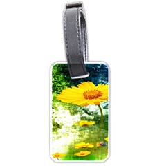 Yellow Flowers Luggage Tags (one Side)