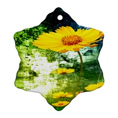 Yellow Flowers Ornament (Snowflake)