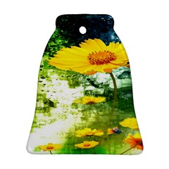 Yellow Flowers Ornament (Bell)
