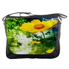 Yellow Flowers Messenger Bags