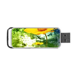 Yellow Flowers Portable Usb Flash (two Sides)