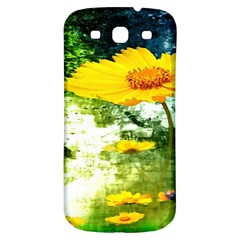 Yellow Flowers Samsung Galaxy S3 S III Classic Hardshell Back Case