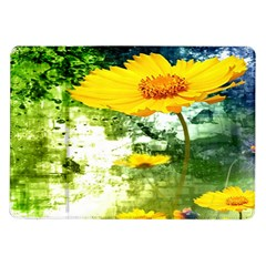 Yellow Flowers Samsung Galaxy Tab 10.1  P7500 Flip Case