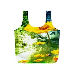 Yellow Flowers Full Print Recycle Bags (S)