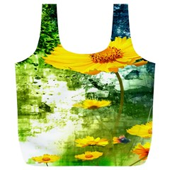 Yellow Flowers Full Print Recycle Bags (l)
