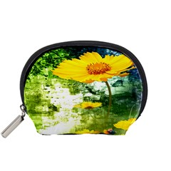 Yellow Flowers Accessory Pouches (small)
