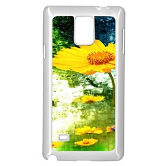 Yellow Flowers Samsung Galaxy Note 4 Case (White)