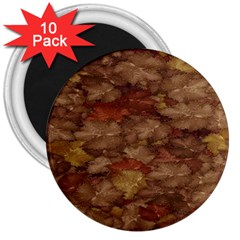 Brown Texture 3  Magnets (10 Pack)