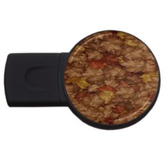 Brown Texture USB Flash Drive Round (4 GB)