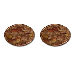 Brown Texture Cufflinks (Oval)