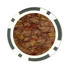 Brown Texture Poker Chip Card Guard