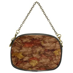 Brown Texture Chain Purses (One Side)