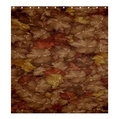 Brown Texture Shower Curtain 66  x 72  (Large)