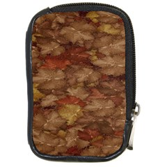 Brown Texture Compact Camera Cases