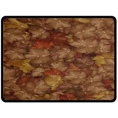 Brown Texture Fleece Blanket (Large)