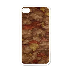 Brown Texture Apple Iphone 4 Case (white)