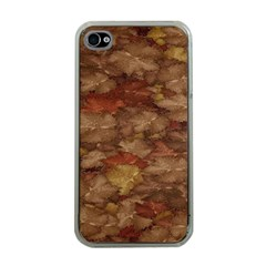 Brown Texture Apple iPhone 4 Case (Clear)