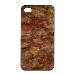 Brown Texture Apple Iphone 4/4s Seamless Case (black)