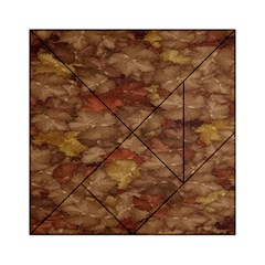Brown Texture Acrylic Tangram Puzzle (6  X 6 )
