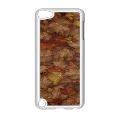 Brown Texture Apple Ipod Touch 5 Case (white)
