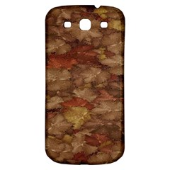 Brown Texture Samsung Galaxy S3 S III Classic Hardshell Back Case