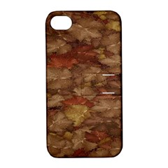 Brown Texture Apple iPhone 4/4S Hardshell Case with Stand