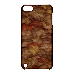 Brown Texture Apple Ipod Touch 5 Hardshell Case With Stand