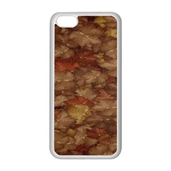 Brown Texture Apple Iphone 5c Seamless Case (white)