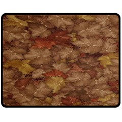 Brown Texture Double Sided Fleece Blanket (Medium)