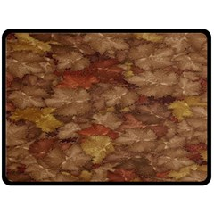 Brown Texture Double Sided Fleece Blanket (Large)