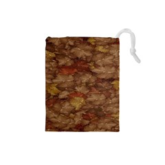Brown Texture Drawstring Pouches (small)