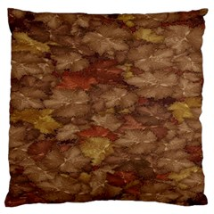 Brown Texture Large Flano Cushion Case (two Sides)