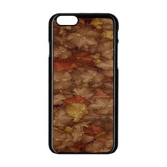 Brown Texture Apple Iphone 6/6s Black Enamel Case