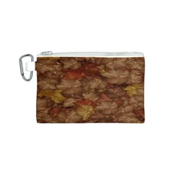 Brown Texture Canvas Cosmetic Bag (S)