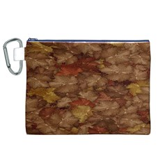 Brown Texture Canvas Cosmetic Bag (xl)