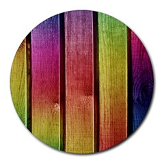 Colourful Wood Painting Round Mousepads