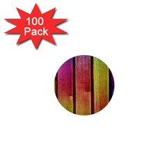 Colourful Wood Painting 1  Mini Buttons (100 pack)