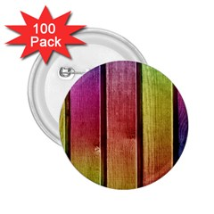 Colourful Wood Painting 2 25  Buttons (100 Pack)