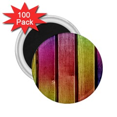 Colourful Wood Painting 2 25  Magnets (100 Pack)