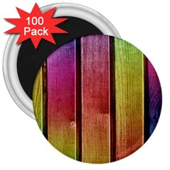 Colourful Wood Painting 3  Magnets (100 pack)
