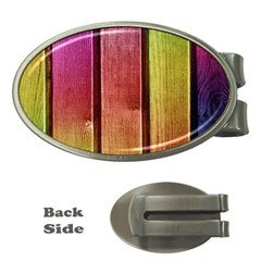 Colourful Wood Painting Money Clips (oval)