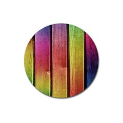 Colourful Wood Painting Magnet 3  (round)