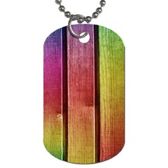 Colourful Wood Painting Dog Tag (Two Sides)