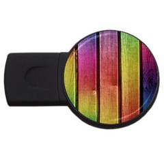 Colourful Wood Painting USB Flash Drive Round (1 GB)