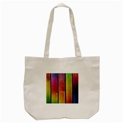 Colourful Wood Painting Tote Bag (Cream)