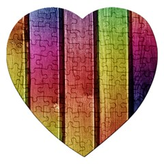 Colourful Wood Painting Jigsaw Puzzle (heart)