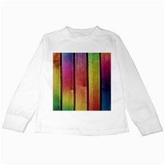 Colourful Wood Painting Kids Long Sleeve T-Shirts