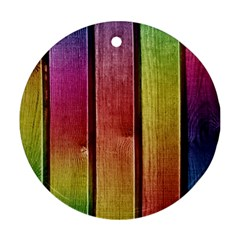 Colourful Wood Painting Round Ornament (two Sides)