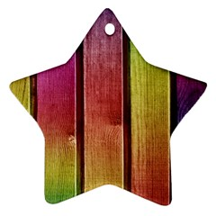 Colourful Wood Painting Star Ornament (two Sides)