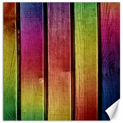 Colourful Wood Painting Canvas 16  X 16